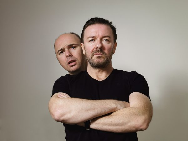 Ricky Gervais and Karl Pilkington for Esquire