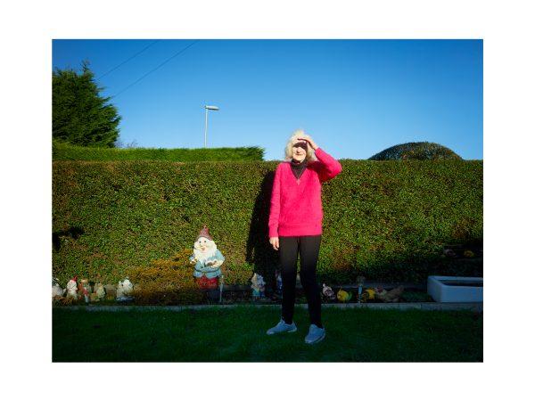 Doreen in her garden, January 2019.