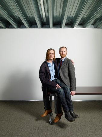 Mackenzie Crook and Mark Gatiss for The Saturday Independent